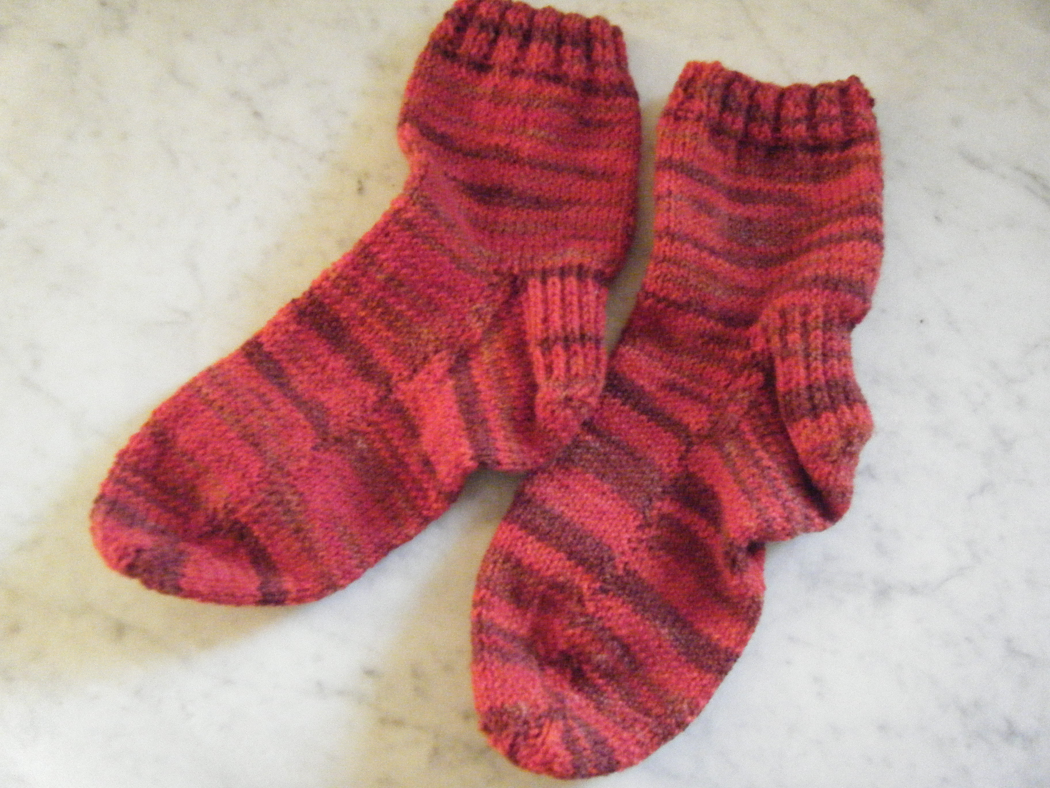 Sunset In Sedona Two Needle Socks | Liver Chick Knits
