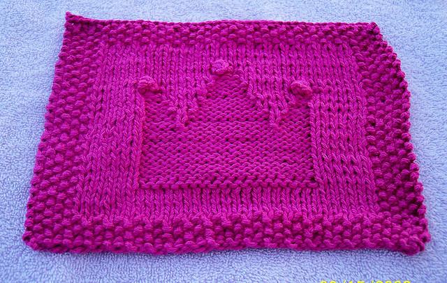 Princess Crown Dish Cloth